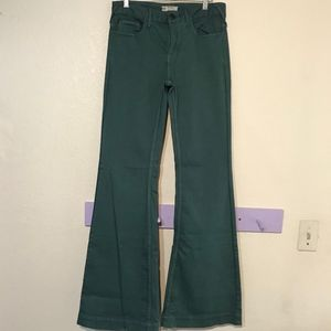 Free People blue / green high rise flare jeans 28